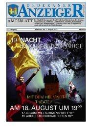 21. Jahrgang 08/2012 Mittwoch, der 1. August 2012 - Stadt Oederan