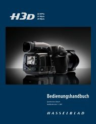 Einstellungen - Hasselblad Customer Care