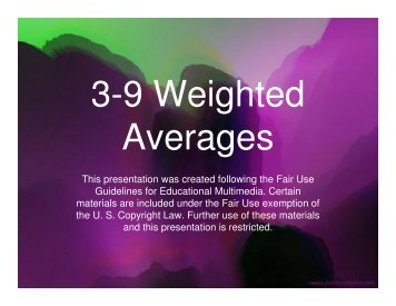 3-9 Weighted Averages - Mona Shores Blogs