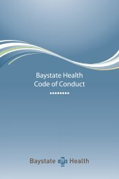 Corporate Compliance Code of Conduct - Baystate Health