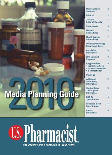 Media Planning Guide - U.S. Pharmacist