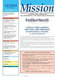 alessitimia e dipendenze patologiche - FeDerSerd