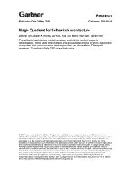 Research Magic Quadrant for Softswitch Architecture - Genband