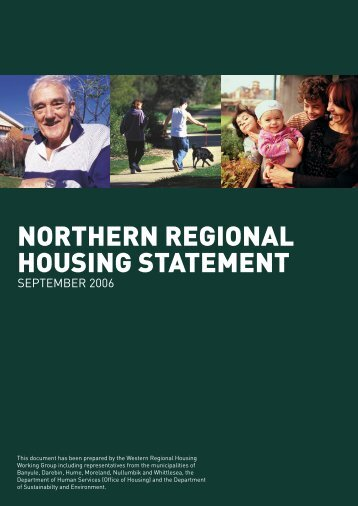 Northern Regional Housing Statement - Banyule City Council