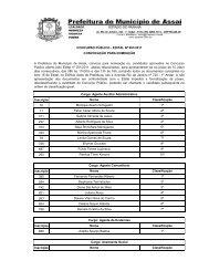 concurso público - edital nº 001/2011 convocação para nomeação