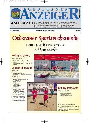 Amtsblatt Oederan - Juli 2007 - Stadt Oederan