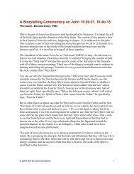 A Storytelling Commentary on John 15:26-27, 16:4b-15 - GoTell ...