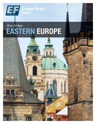 EASTERN EUROPE - EF College Study Tours