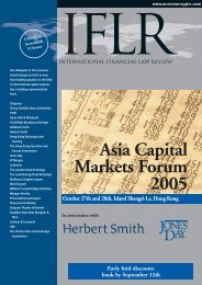 Asia Capital Markets Forum 2005 October 27th and 28th, Island ...