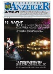 Amtsblatt Oederan - August 2011 - Stadt Oederan