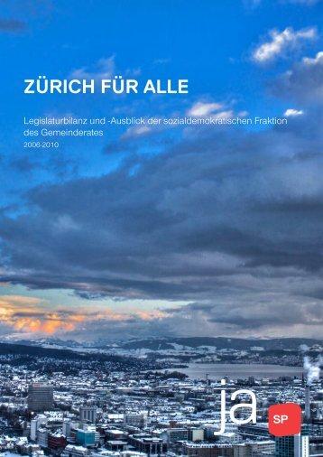 Legislaturbilanz und Ausblick - SP Stadt Zürich