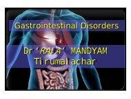 Gastrointestinal Disorders - CatsTCMNotes