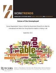 Voices of the Unemployed - John J. Heldrich Center for Workforce ...