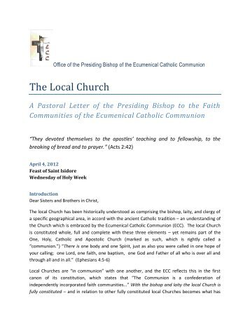 The Local Church - Ecumenical Catholic Communion
