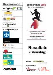 Rangliste Samstag - TV Herzogenbuchsee