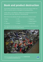 Book and product destruction - Viridor waste management services