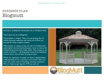 blogmutt business plan public - Angel Capital Summit