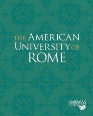 AUR Viewbook in PDF - The American University of Rome