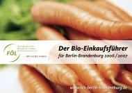 Der Bio-Einkaufsführer für Berlin-Brandenburg ... - Oekolandbau.de