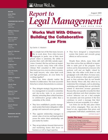 Building the Collaborative Law Firm - Altman Weil