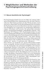 1 Möglichkeiten und Methoden der Psychologiegeschichtsschreibung