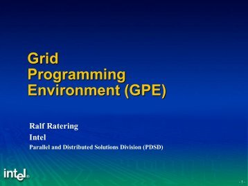 Grid Programming Environment (GPE) - GridLab