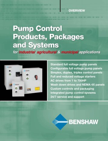 Pump Control Panels Overview Brochure - Royal Hydraulics
