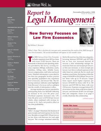 Survey of Law Firm Economics - Altman Weil