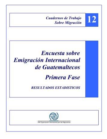Encuesta sobre Emigración Internacional de Guatemaltecos ... - Acnur