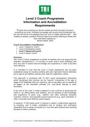 NEW Level 3 Coach Programme Information and Accreditation ...