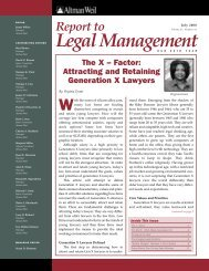 Attracting and Retaining Generation X Lawyers - Altman Weil