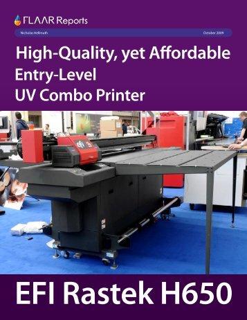 EFI Rastek H650 - Wide-format-printers.org