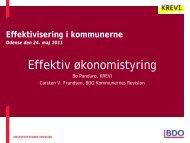 Effektivisering i kommunerne Odense den 24. maj 2011