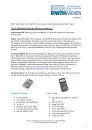 Prüfungs-FAQ (häufig gestellte Fragen) - Institut für ...