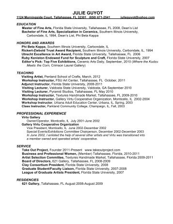 View Resume PDF - Red Lodge Clay Center