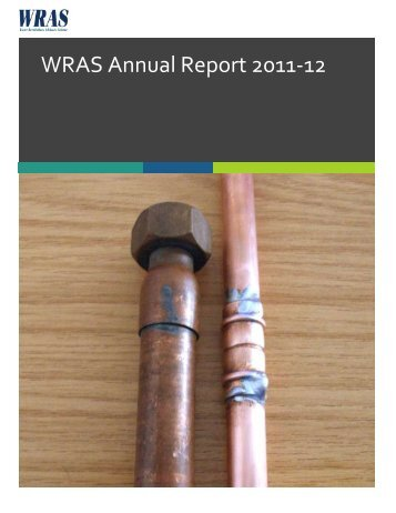 WRAS Annual Report 2011-12 - Water Regulations Advisory Scheme