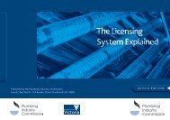 The Licensing System Explained - Plumbing Industry Commission