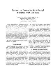 Towards an Accessible Web through Semantic Web Standards