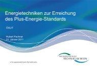 Energietechniken zur Erreichung des Plus-Energie-Standards - ÖGUT