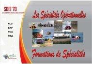 Spécialités - Service Départemental d'Incendie et de Secours de ...
