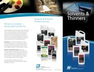 Solvents and Thinners Brochure - Recochem Inc.