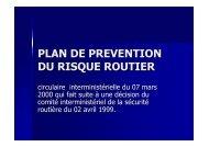 Plan de préventin du risque routier (PPRR)