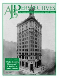AJS Perspectives (Fall/Wint 02) - Association for Jewish Studies