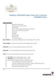 Papillon ZEUGMA High Class All Inclusive SUMMER 2011 - Wayout