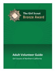 The Girl Scouts Bronze Award- Adult Guide - Girl Scouts of Northern ...