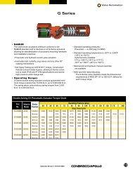 Technical Sheet - G Series