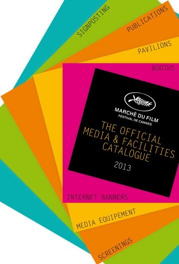 Download the official Facilities catalogue 2013 - Marché du Film