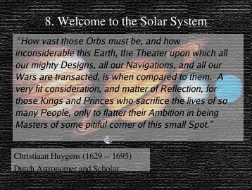 8. Welcome to the Solar System