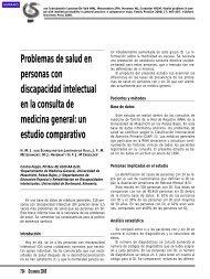 Problemas de salud en personas con discapacidad intelectual en la ...