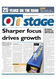 Sharper focus drives growth - Stagecoach Group